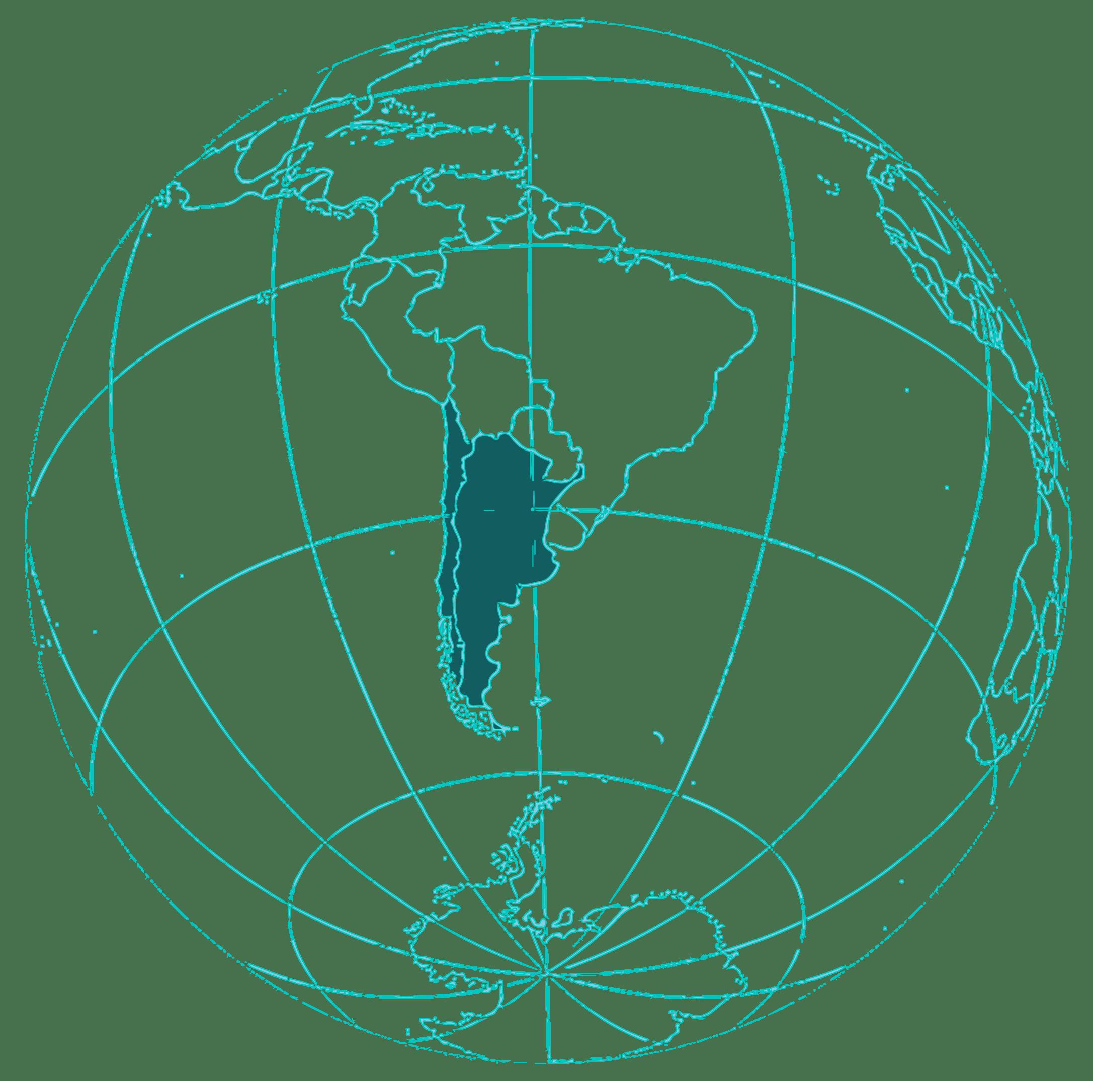 Mapa chile y argentina