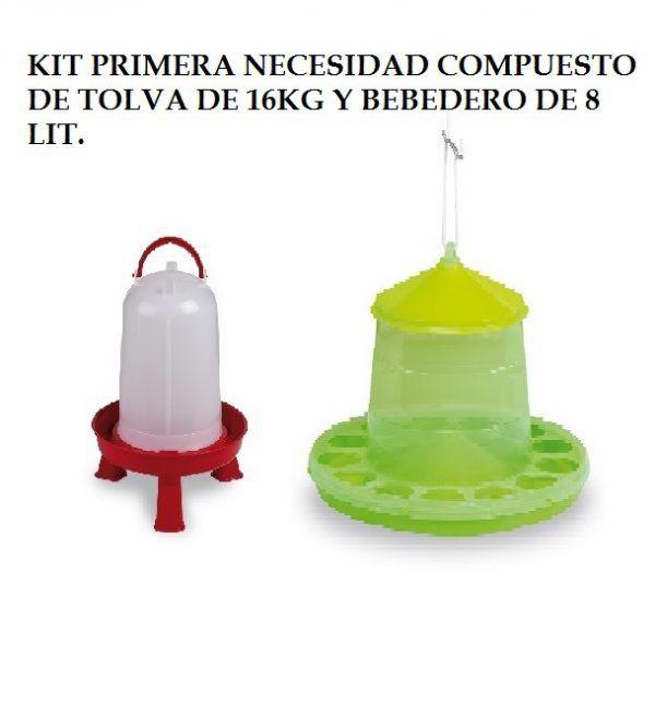 kit comedero16kg bebedero 8 litr