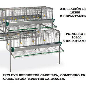 Jaula Bateria Gallinas 8 departamento Ampliación