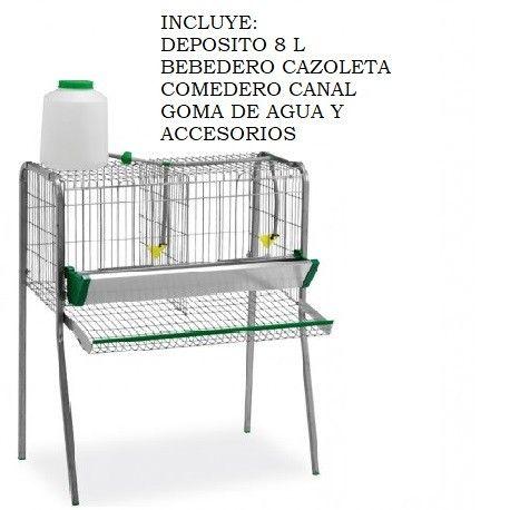 Bateria Jaula Gallinas 2 Departamentos.