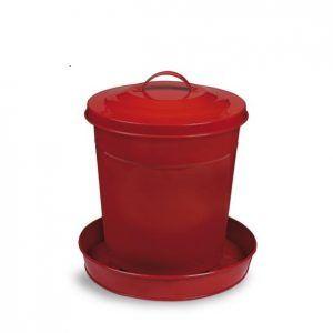 Comedero Aves pintado en rojo 6kg